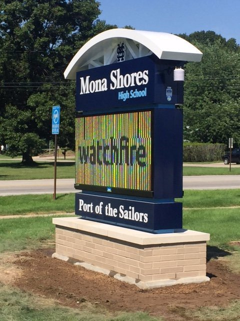 Mona Shores Sign Base
